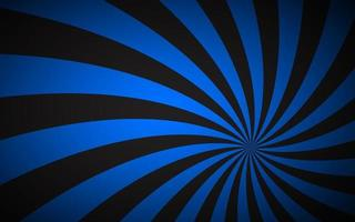 Black and blue spiral background Swirling radial pattern Abstract vector illustration