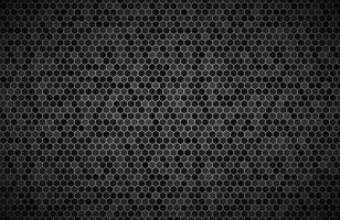 Dark widescreen background with hexagons with different transparencies Modern black geometric design Simple vector illustration
