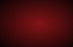 Red widescreen background with black squares mesh Modern metal geometric design Technology texture Simple vector illustration