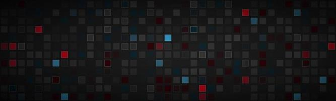 encabezado abstracto negro con diferentes cuadrados transparentes rojo azul y gris mosaico look banner fondo de ilustración vectorial moderna vector