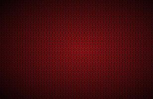 Black widescreen background with red squares mesh Modern metal geometric design Technology texture Simple vector illustration
