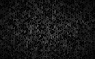Abstract triangle background with black triangles with different shades of grey and white outlines Mosaic look Modern vector texture illustration