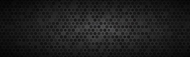 Encabezado de pantalla ancha oscura con ruedas con diferentes transparencias moderno diseño geométrico negro banner simple ilustración vectorial de fondo vector