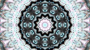 fond graphique de mouvement kaléidoscope multicolore video