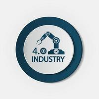 Industry 4 0 icon Technology concept vector