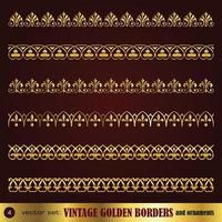 Border decoration elements vector