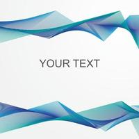 Modern Blue Abstract Waves vector