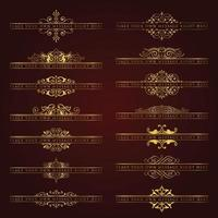 Vintage background and frames Borders vector