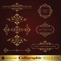Vintage background and frame Borders vector