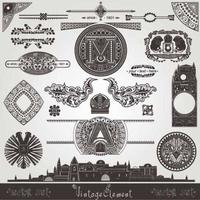 Old vintage royal design vector