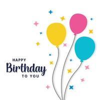 Happy Birthday with Balloons vector