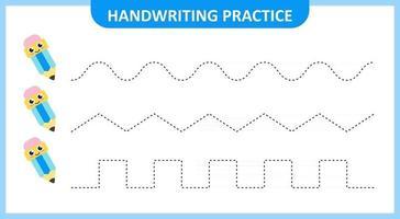 Handwriting Practice Vector