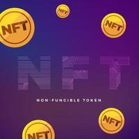 NFT Non Fungible Token Vector Illustrations