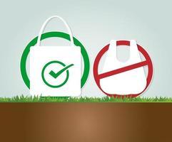 concepto de ecología ideas de bolsas de tela ecológicas vector