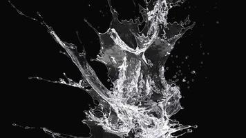 salpicaduras de agua sobre un fondo negro video