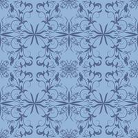 Floral folk damask pattern Fantasy flowers Floral geometric fantasy vector