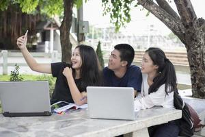 Students taking a selfie photo