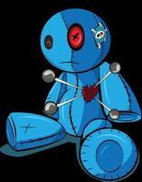 muñeco vudú con el corazón roto vector