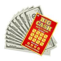 Lottery Cash Win Vector Illustration