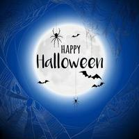 Cobweb Spiderweb Halloween Background Vector Illustration