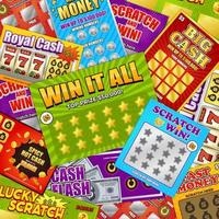 Lottery Cards Background Vector Illustration