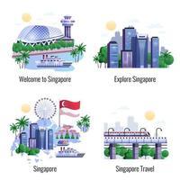 Singapore 2x2 Design Concept Vector Illustration