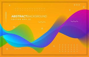 Abstract wave background design with modern concept vector