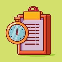 task deadline  concept isolated cartoon illustration in flat style vector