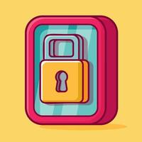 smartphone lock  isolated cartoon illustration in flat style vector