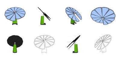 Solar panel vector design illustration