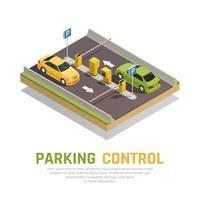 Parking Gate Control Background Vector Illustration