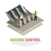 Pay Gate Control Background Vector Illustration