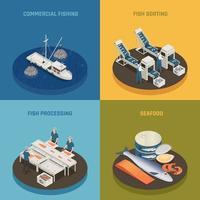 Commercial Fishing Design Concept Vector Illustration