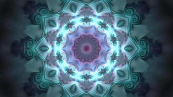 kaléidoscope d'arrière-plan graphique de mouvement bleu video