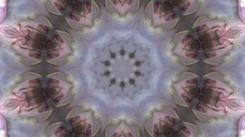 séquence de kaléidoscope d'arrière-plan graphique de mouvement rose video