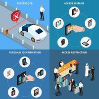 Access Identification Isometric Design Concept Vector Illustration