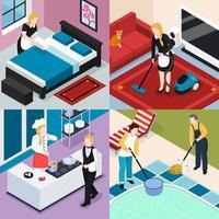 Home Staff 2x2 Design Concept Vector Illustration