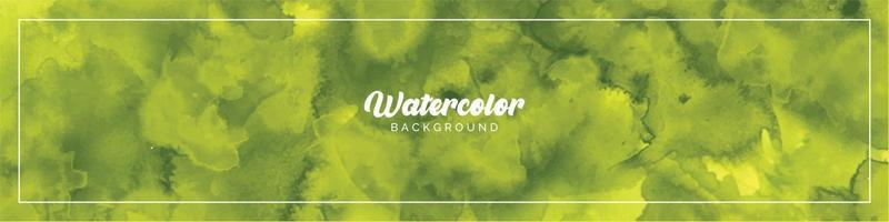 Pastel Light Green Watercolor Painted Background vector