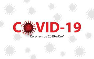 Covid 19 coronavirus banner vector design