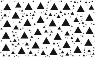 Black and White Random Triangle Pattern vector