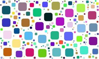 Colorful Random Rounded Squares Pattern vector