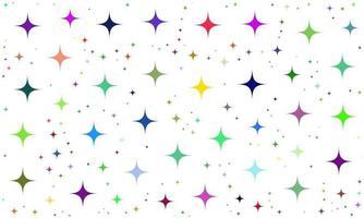 Colorful Random Stars Pattern Background vector
