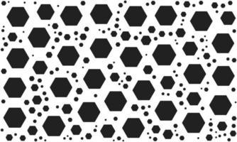 Black and White Random Hexagon Pattern vector