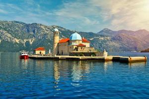 Our Lady of the Rocks Church Island in Perast Kotor Bay, Montenegro photo