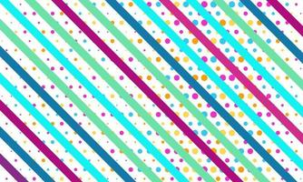 Modern Colorful Background With Dots and Stripes vector