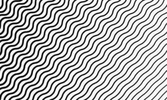 Diagonal Wavy Lines Seamless Pattern vector