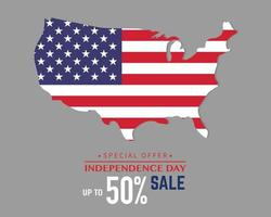 America Independence Day Special Sale vector