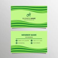 Abstract Green Wave Business Card Template vector