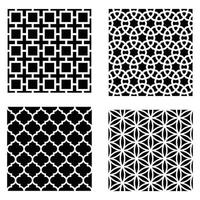 laser cutting pattern and Islamic pattern design vector