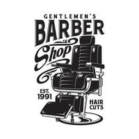 gráfico vectorial de silla de barbería vector
